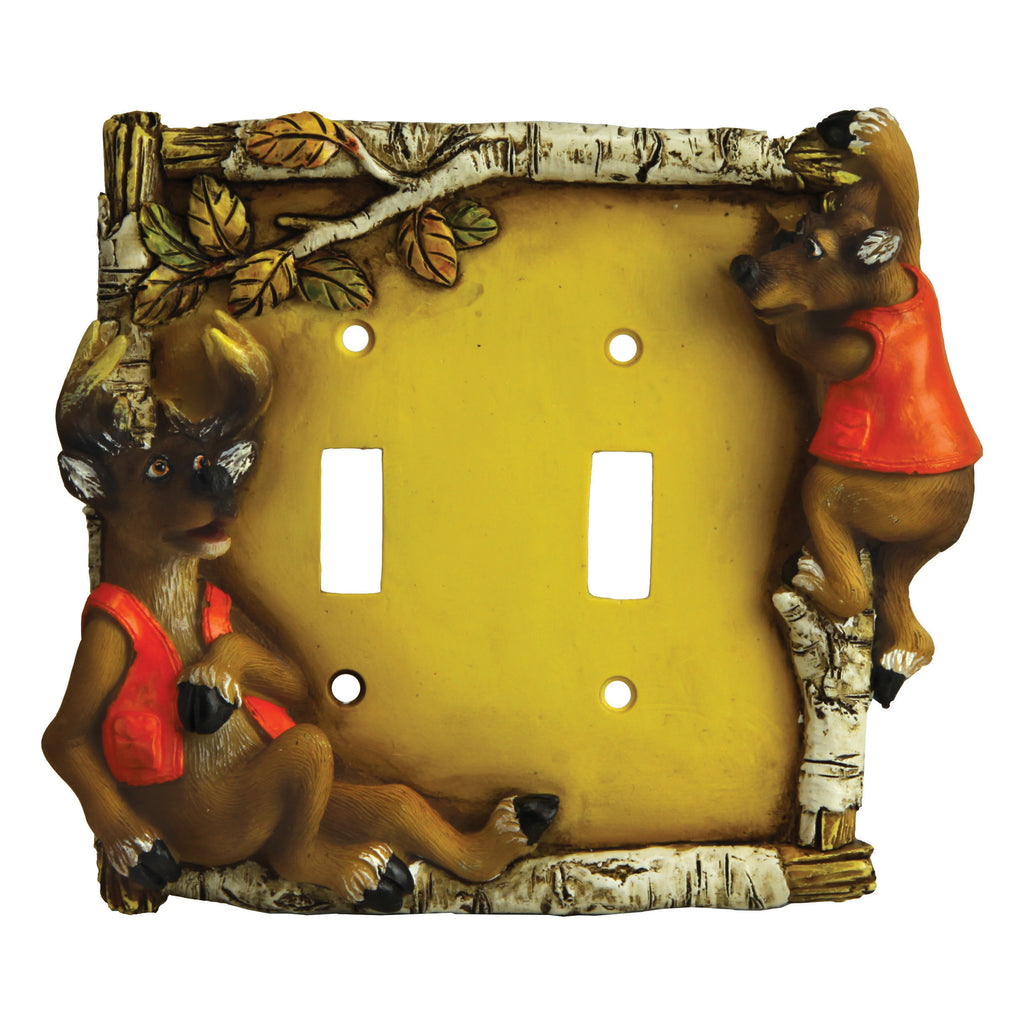 Switch Plate Cover Double - Cute Deer