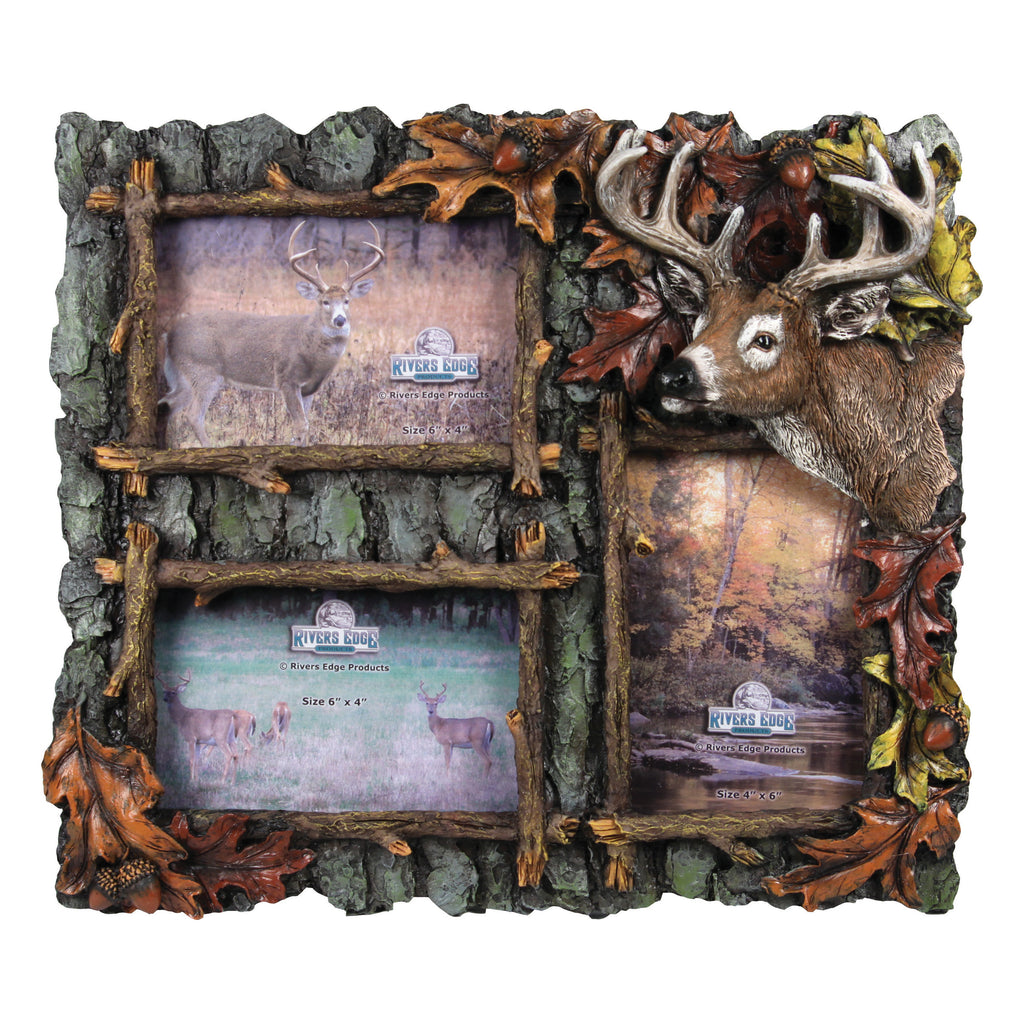 Picture Frame 4in x 6in - 3-Picture Deer