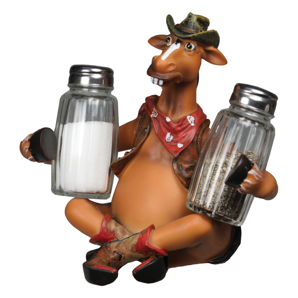 Salt and Pepper Shakers - Horse Holding