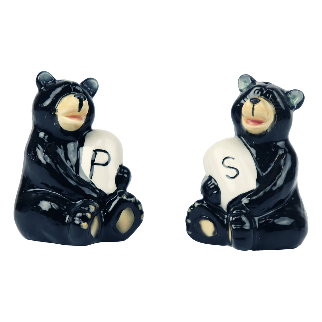 Salt and Pepper Shakers - Bear Holding