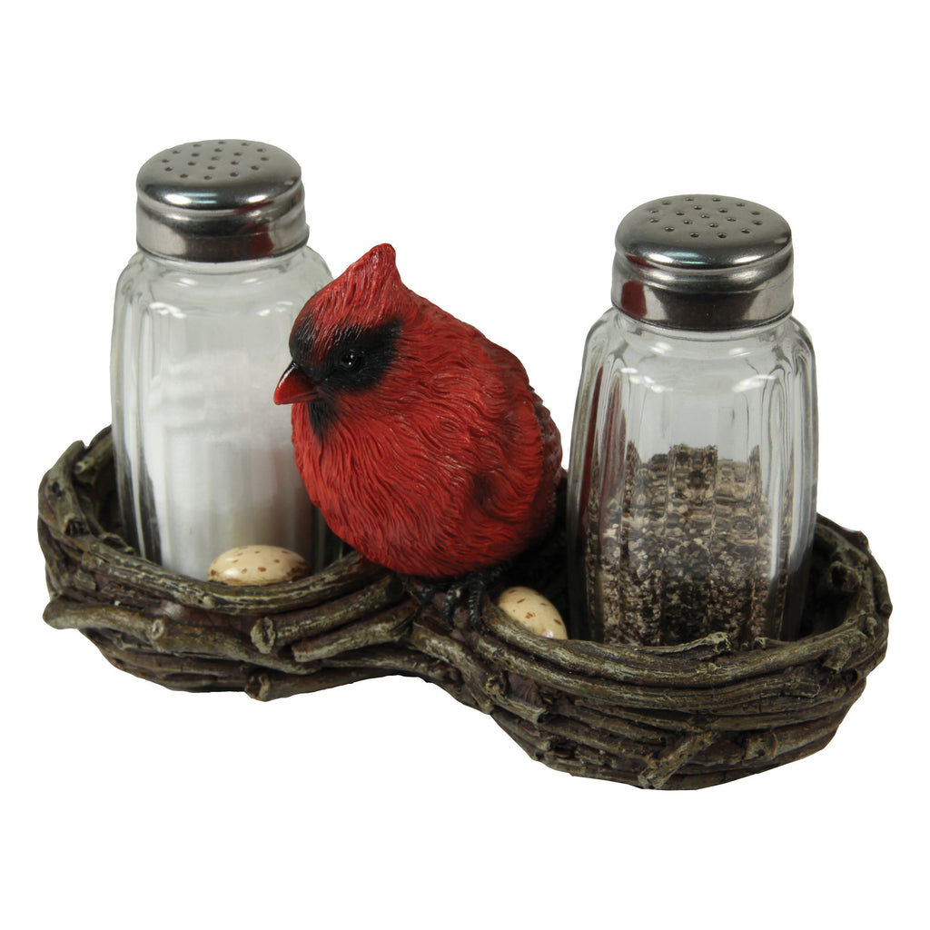 Salt and Pepper Shakers - Cardinal