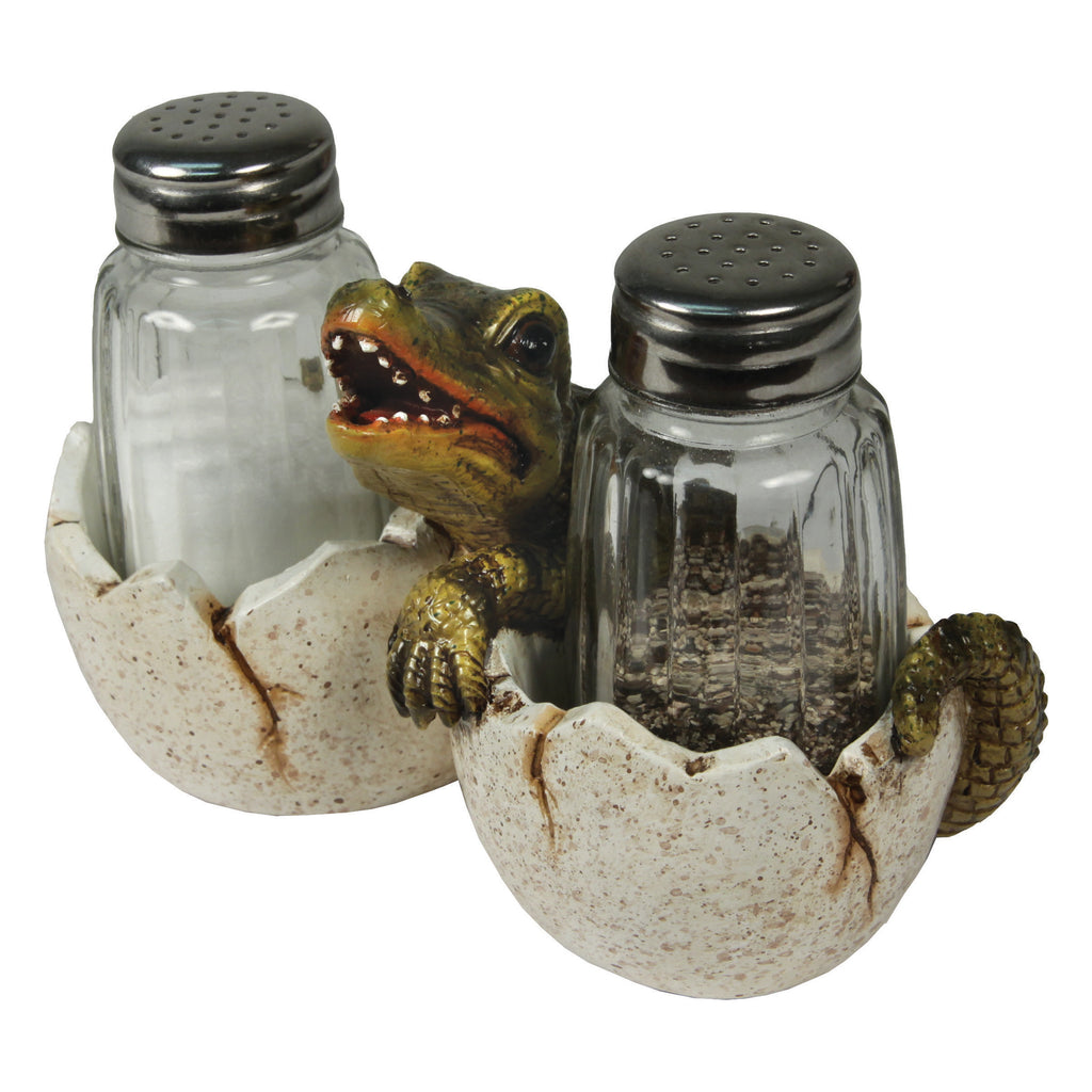 Salt and Pepper Shakers - Baby Alligator