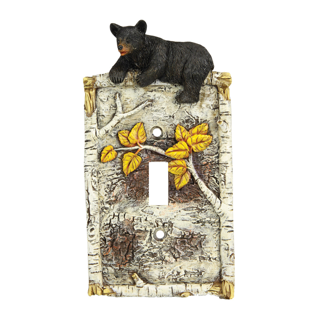 Electrical Cover Plate Switch Single - Birch Bear