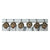 Shower Curtain Hooks - Antler with Deer