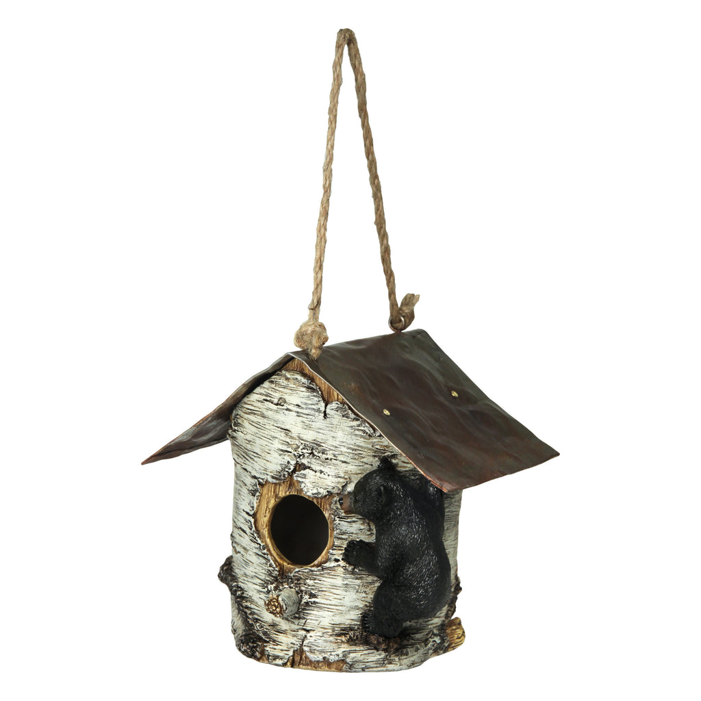 Birdhouse - Birch Tree and Bear