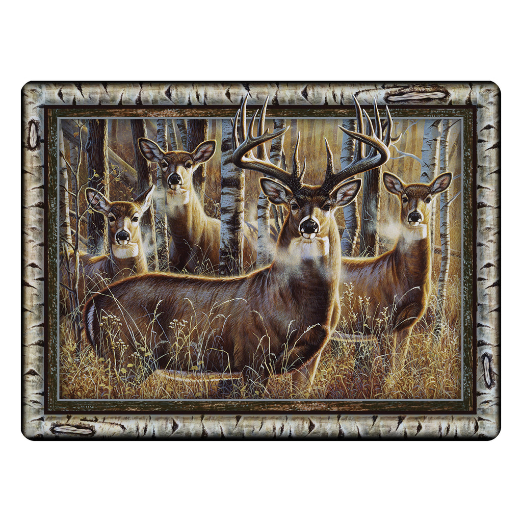 Cutting Board 12in x 16in - Multi Deer