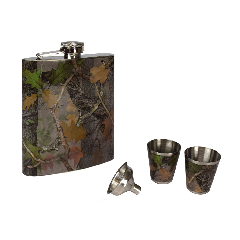 Flask and Shot Set - CB Camo