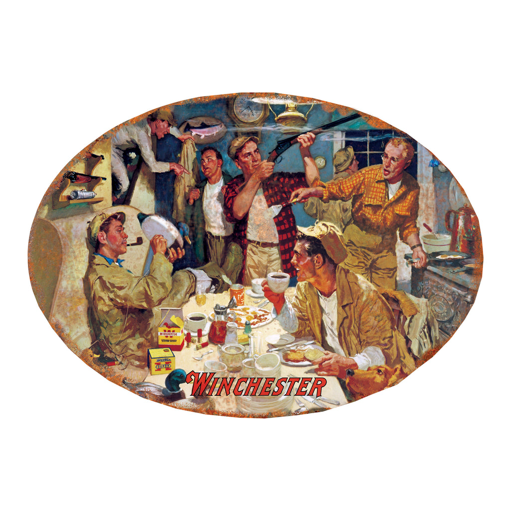 Metal Tin Signs, Funny, Vintage, Personalized 12-Inch X 17-Inch - Winchester Duck Camp