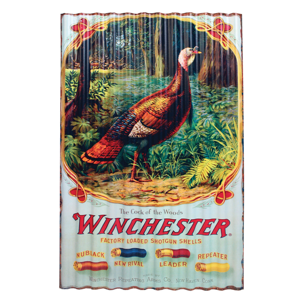 Corrugated Metal Sign 15in x 22in - Winchester Turkey