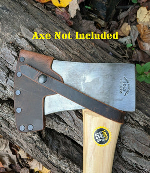Snow & Nealley Camping Axe Leather Sheath Mask (Axe Not Included) Hudson Bay - 3.5lb Single Bit - Penobscot Bay