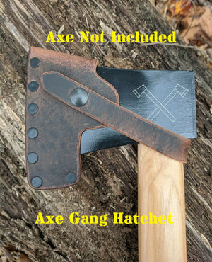 Handmade Leather Sheath For Cold Steel Tomahawk & Axe Models (Trail Hawk, Pipe Hawk, Frontier Hawk, Rifleman's Hawk, Hudson Bay Tomahawk, Trail Boss, Hudson Bay Camp Axe, Axe Gang Hatchet)