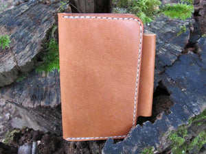 Handmade Asher Deluxe Leather Field Notes Notebook Case - Tan Bridle
