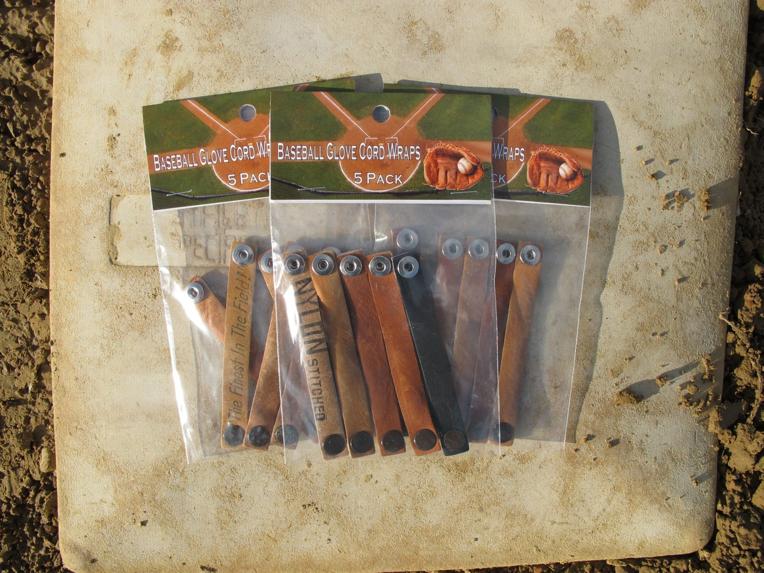 Vintage Baseball Glove Accessory Cord Cable Wraps - 5 Pack
