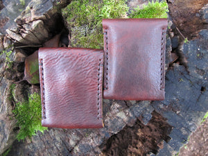 Badlands Slim Front Pocket Snap Leather Wallet - Brown
