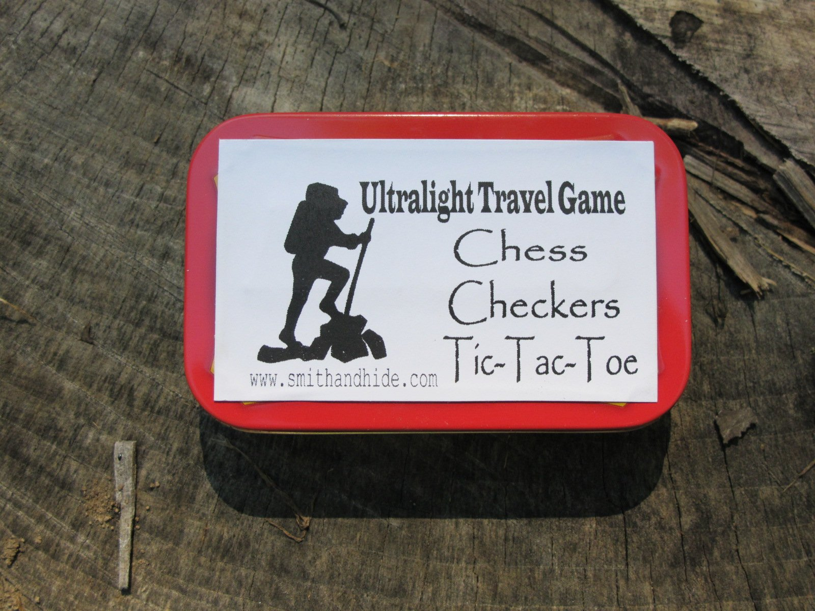 Ultralight Altoids Tin Backpacking Travel Camping Game Chess Checkers And Tic-Tac-Toe Minimalist