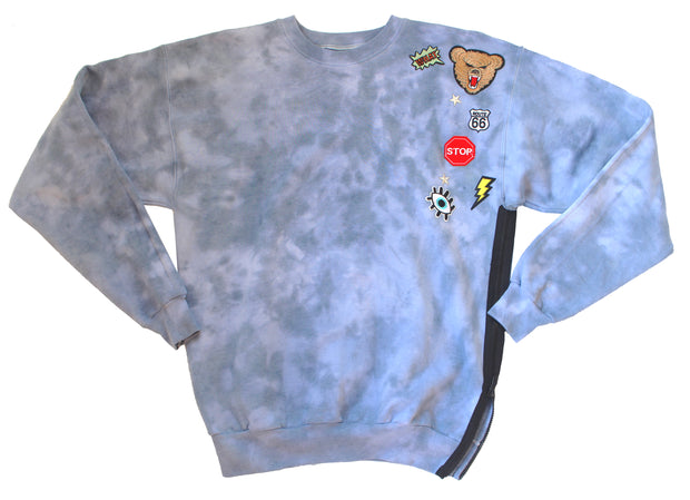 IMperfect Original - Tie-Dye Appliqué Sweatshirt w/ Side Zipper