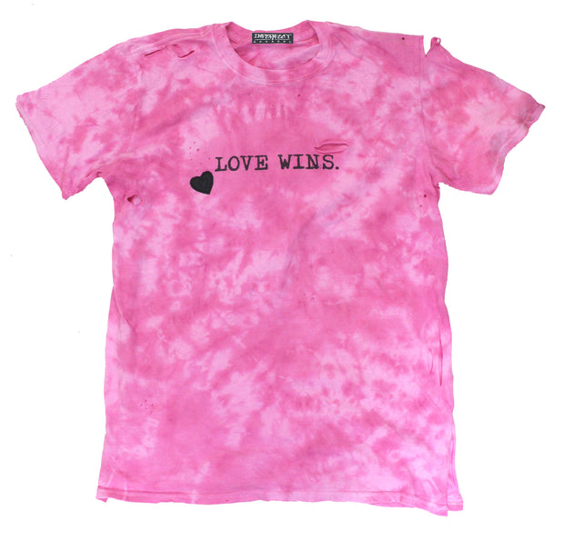 Custom Tie-Dye Love Wins Tee