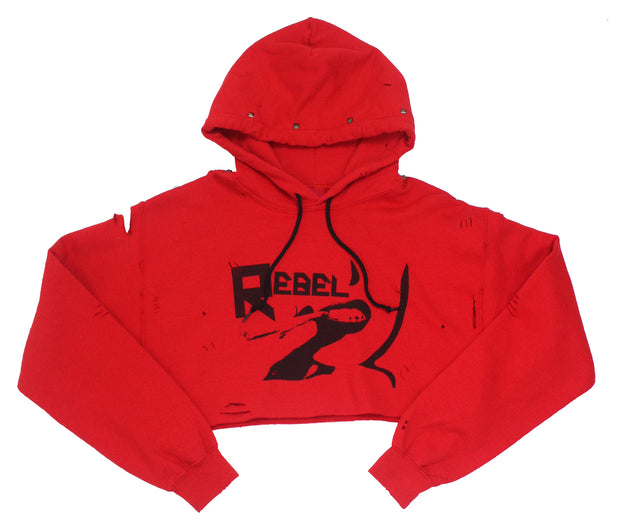IMperfect Original - Rebel Crop & Studs Hoodie