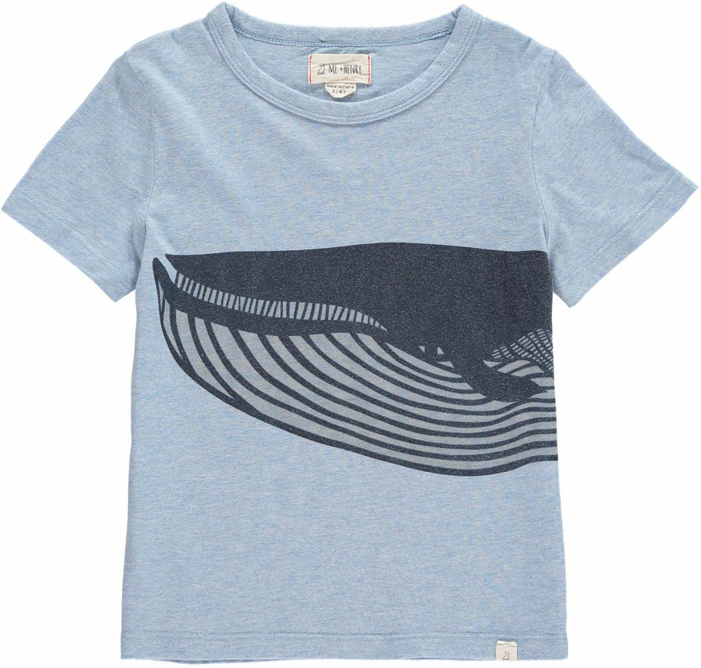 Me & Henry Blue Whale T-Shirt