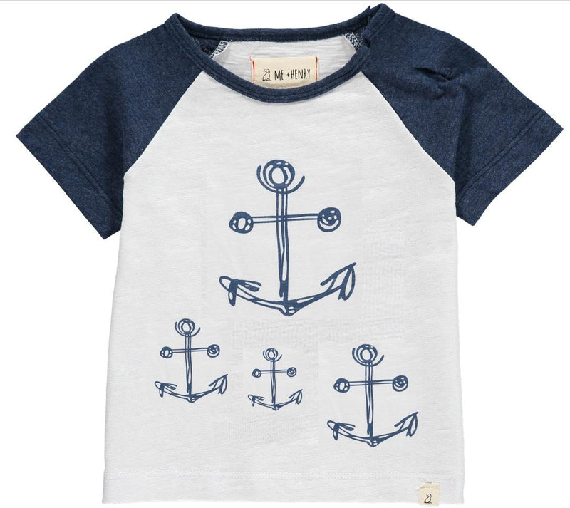 Me & Henry Anchor Print Tee - Toddler/Boys