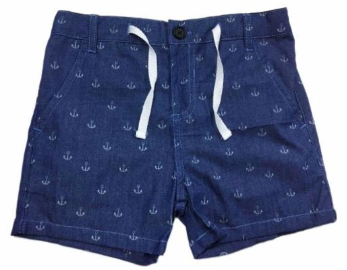 Me & Henry Anchor Chambray Shorts