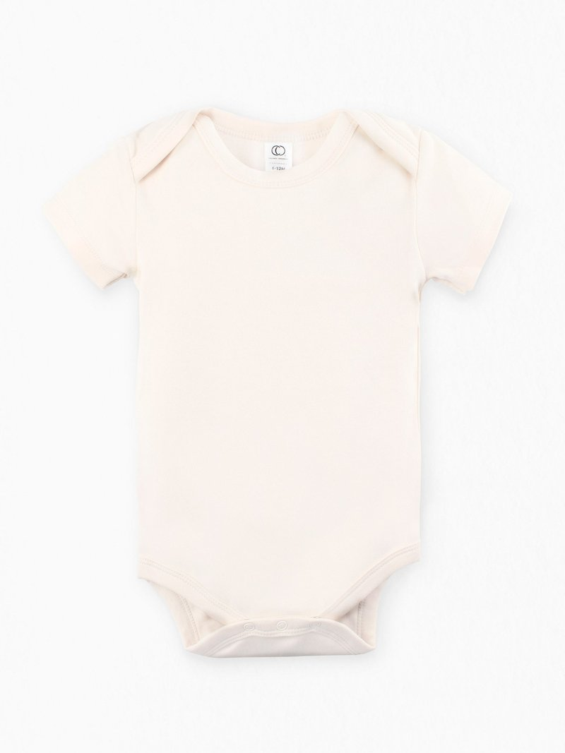Colored Organics Short Sleeve Bodysuit - Natural