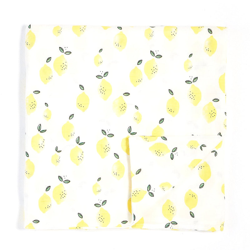 Miles Baby 2 Pack Swaddle Blanket Woven Lemon