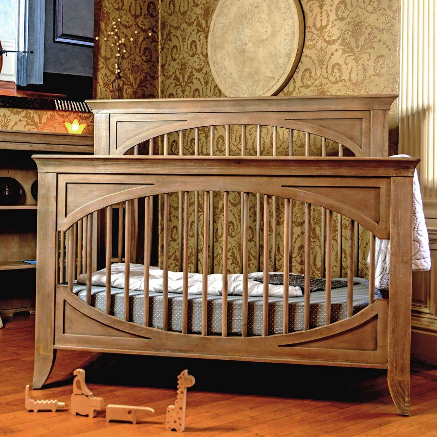 Milk Street Cameo Oval Convertible Crib