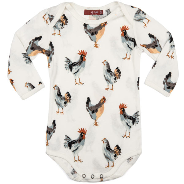 Milkbarn Organic Long Sleeve One Piece - Chicken