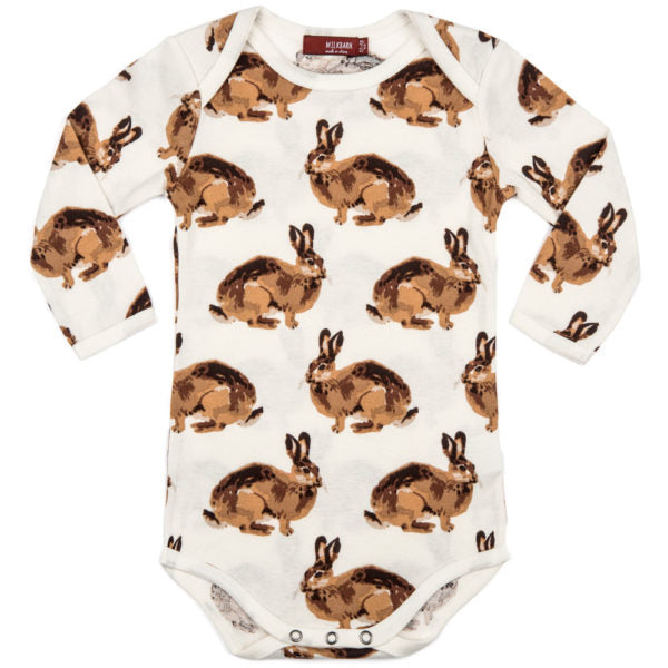 Milkbarn Organic Long Sleeve One Piece - Bunny