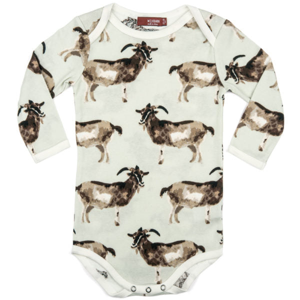Milkbarn Organic Long Sleeve One Piece - Goat