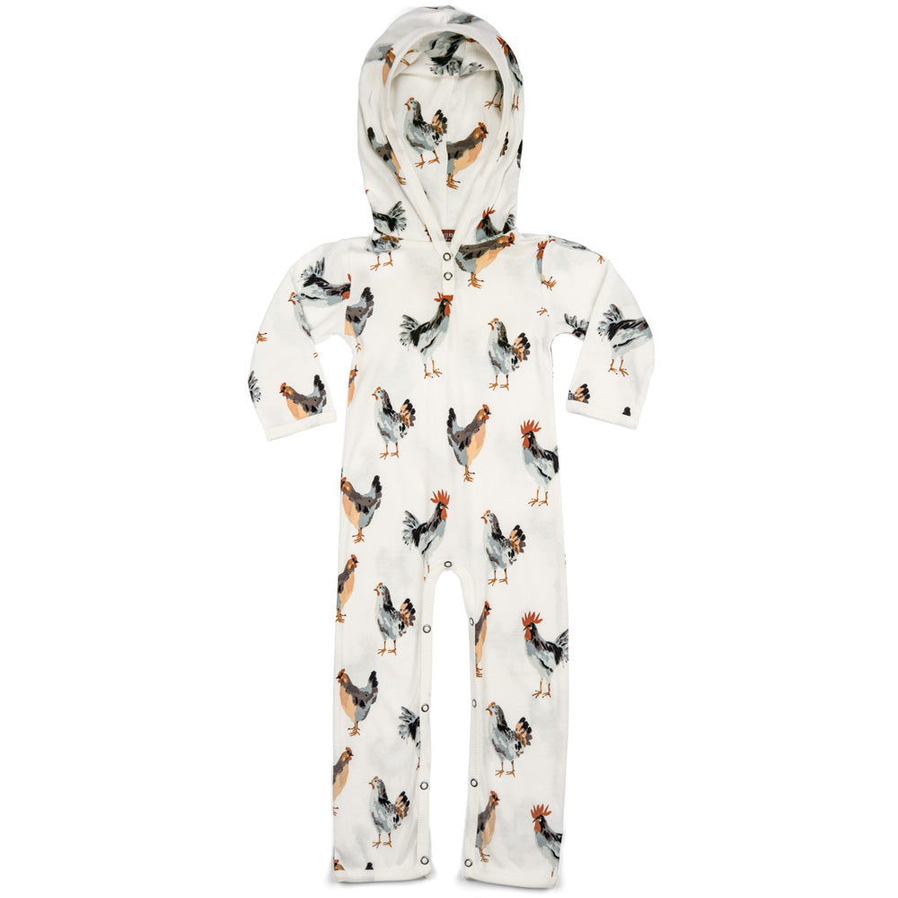 Milkbarn Organic Hooded Romper - Chicken