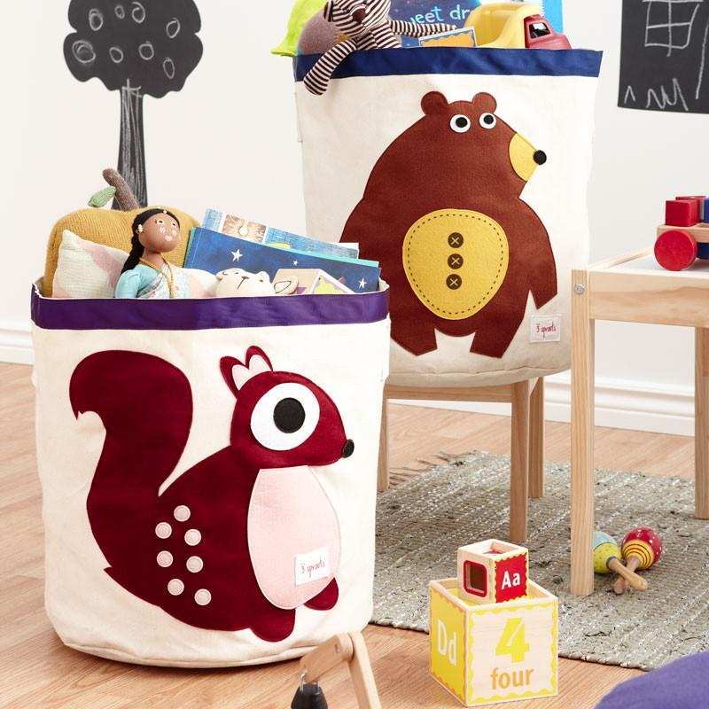 3 Sprouts Storage Bin Bear