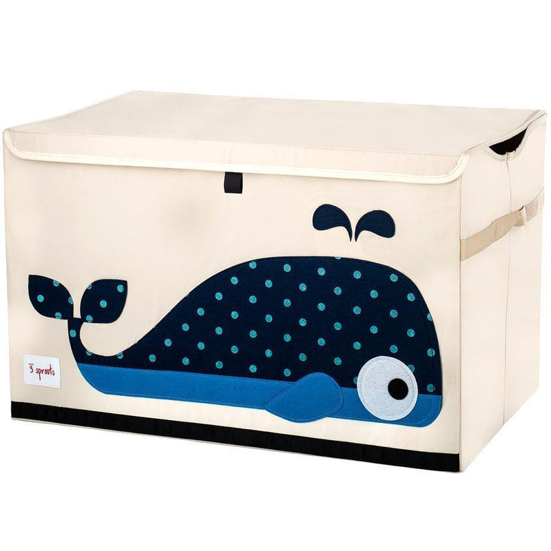 3 Sprouts Storage Bin Blue Elephant