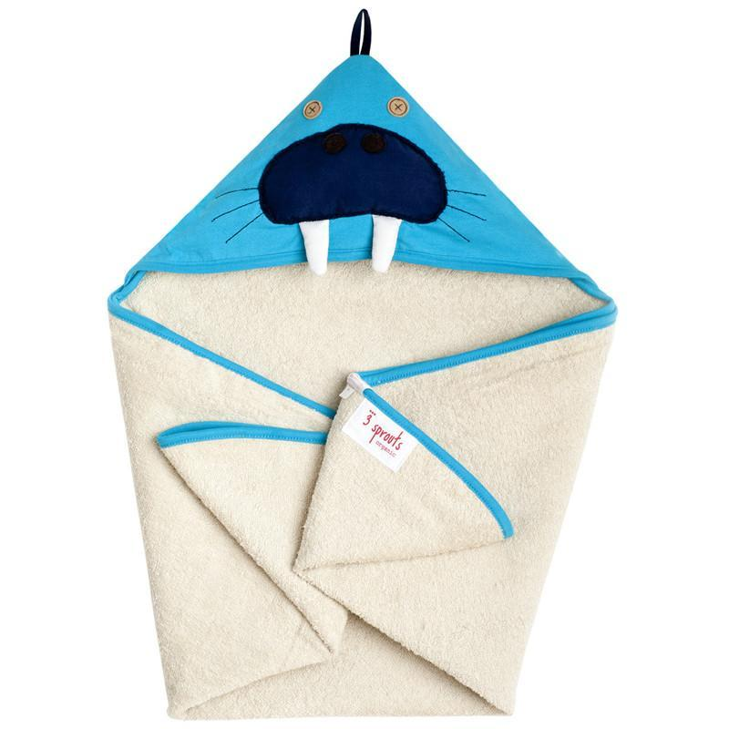 3 Sprouts Hooded Towel Walrus