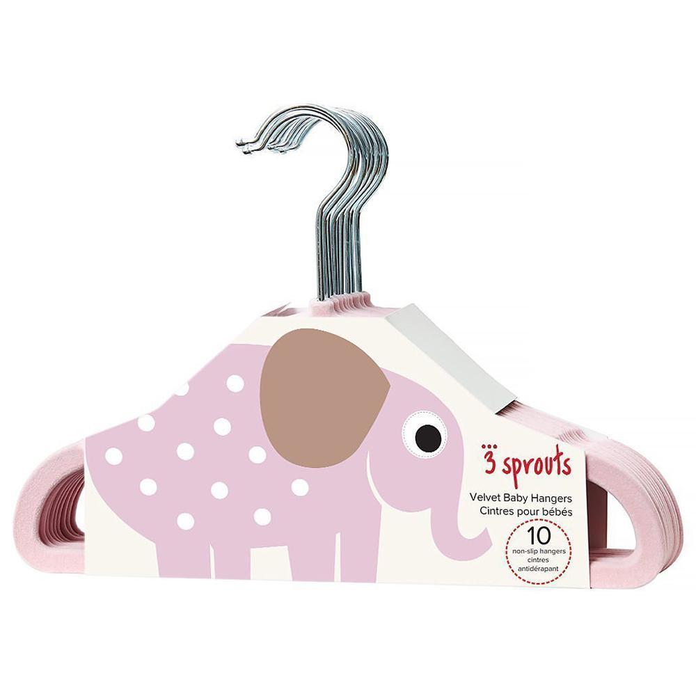 3 Sprouts Velvet Non-Slip Hangers (Set of 10) - Elephant