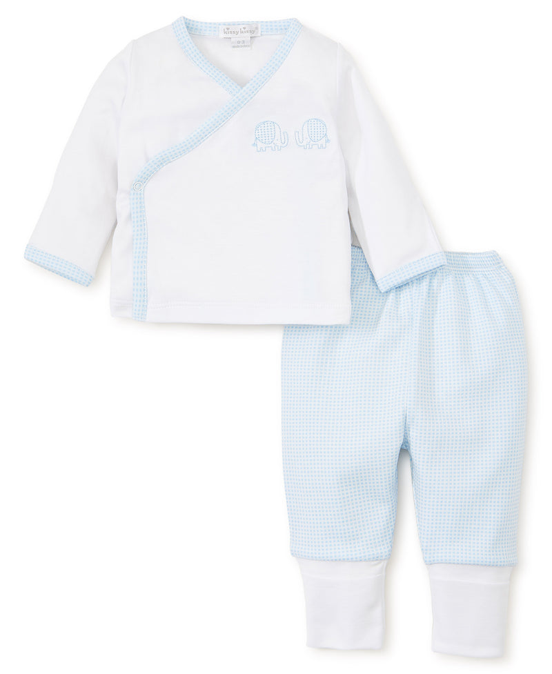 Kissy Kissy Trunk Tales Pant Set Blue/White