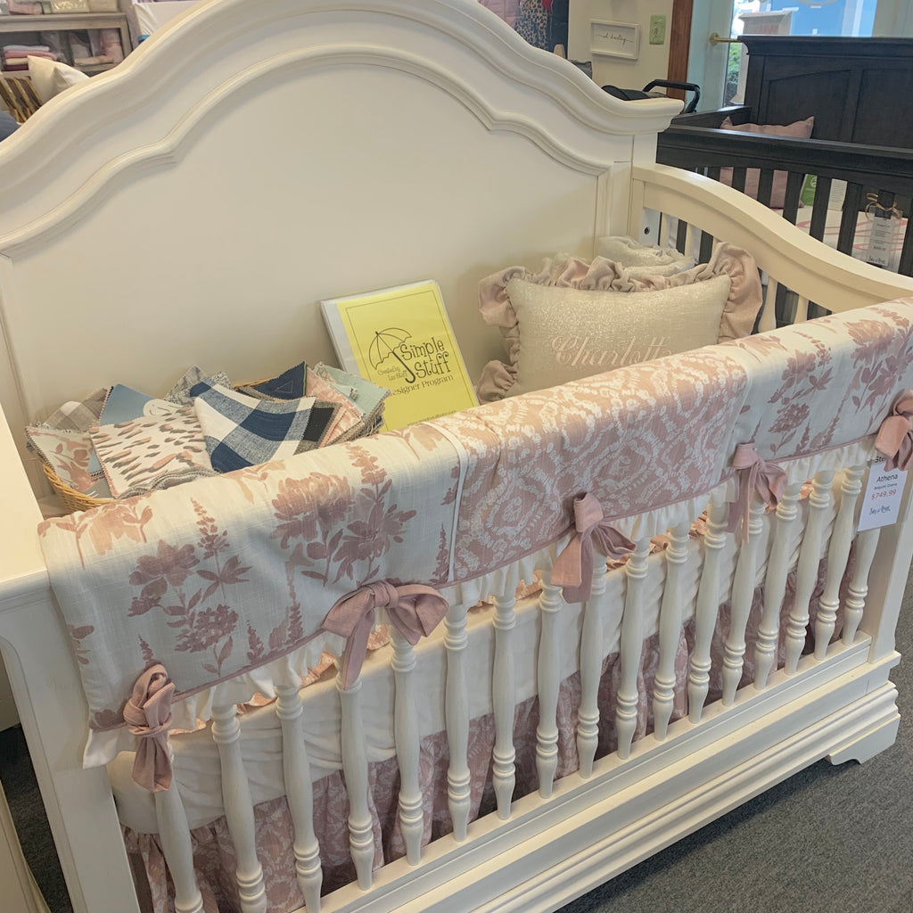 ***Custom crib bedding for Meaghan*** Gathered Dust Ruffle with a 14 inch drop
