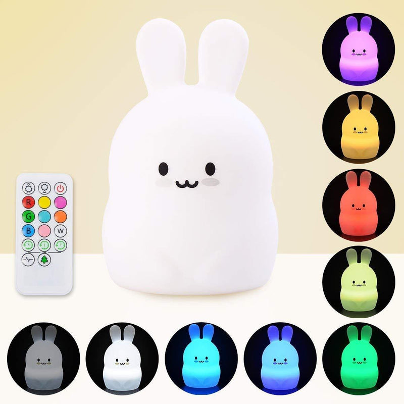 LumiPets LED Nightlight with Remote - Bunny