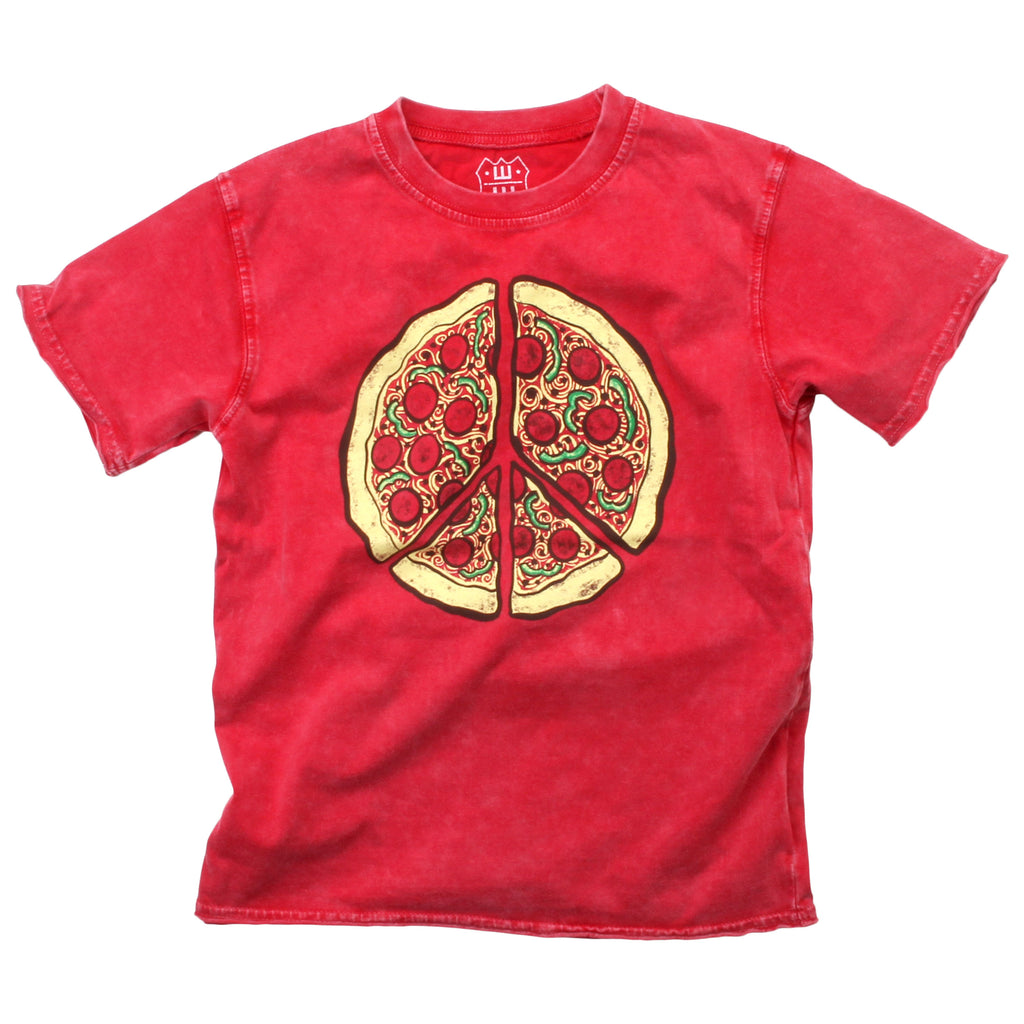 Wes & Willy Faded Tee - Pizza Peace