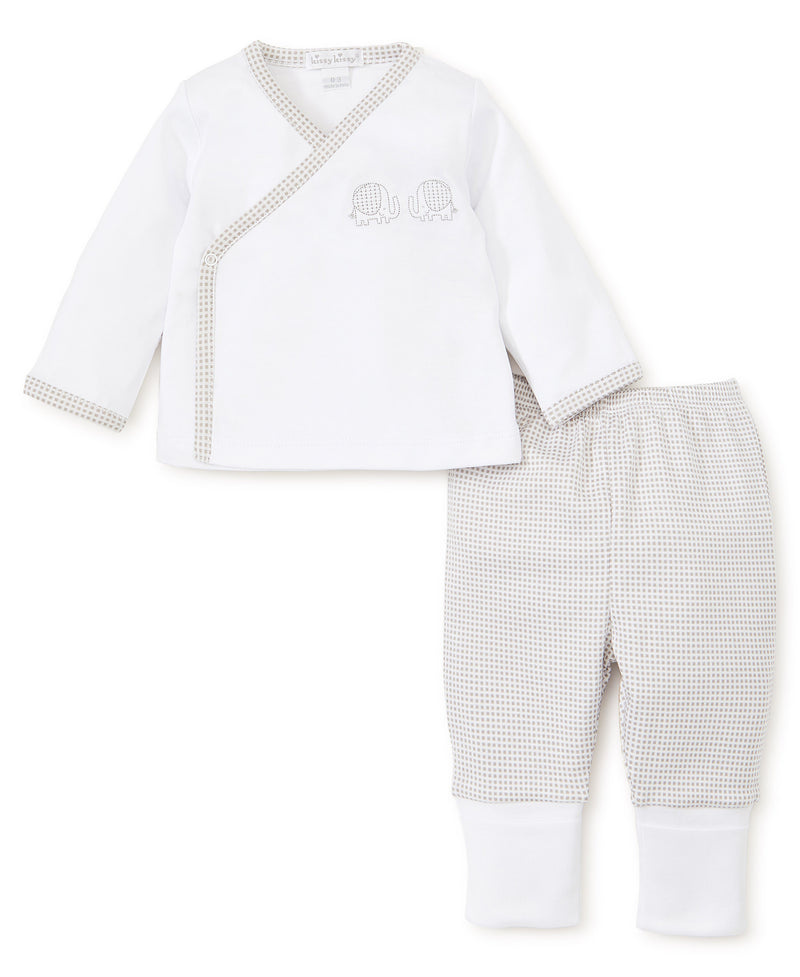 Kissy Kissy Trunk Tales Pant Set Silver/White