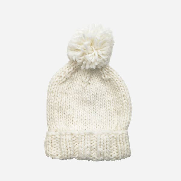 The Blueberry Hill Single Pom Beanie - Cream