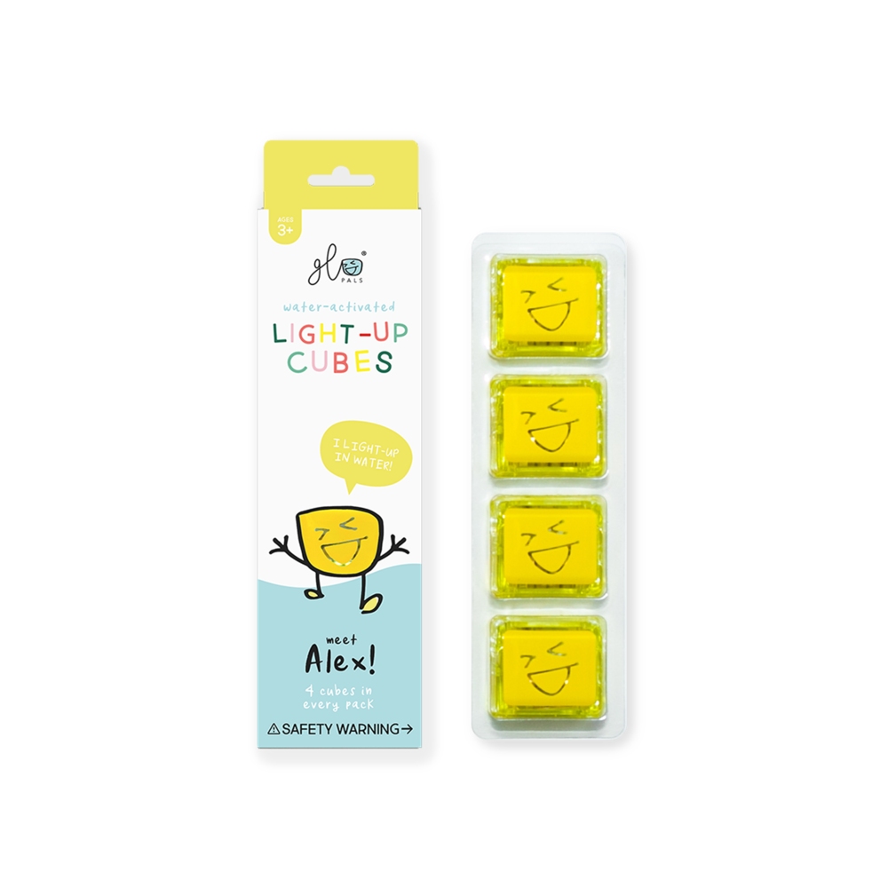 Glo Pals Light Up Cube - Alex (Yellow)