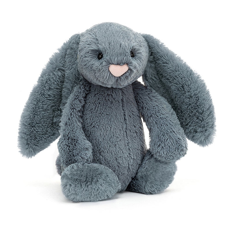 "Jellycat Bashful Dusky Blue Bunny- SMALL - H7"" X W4"""