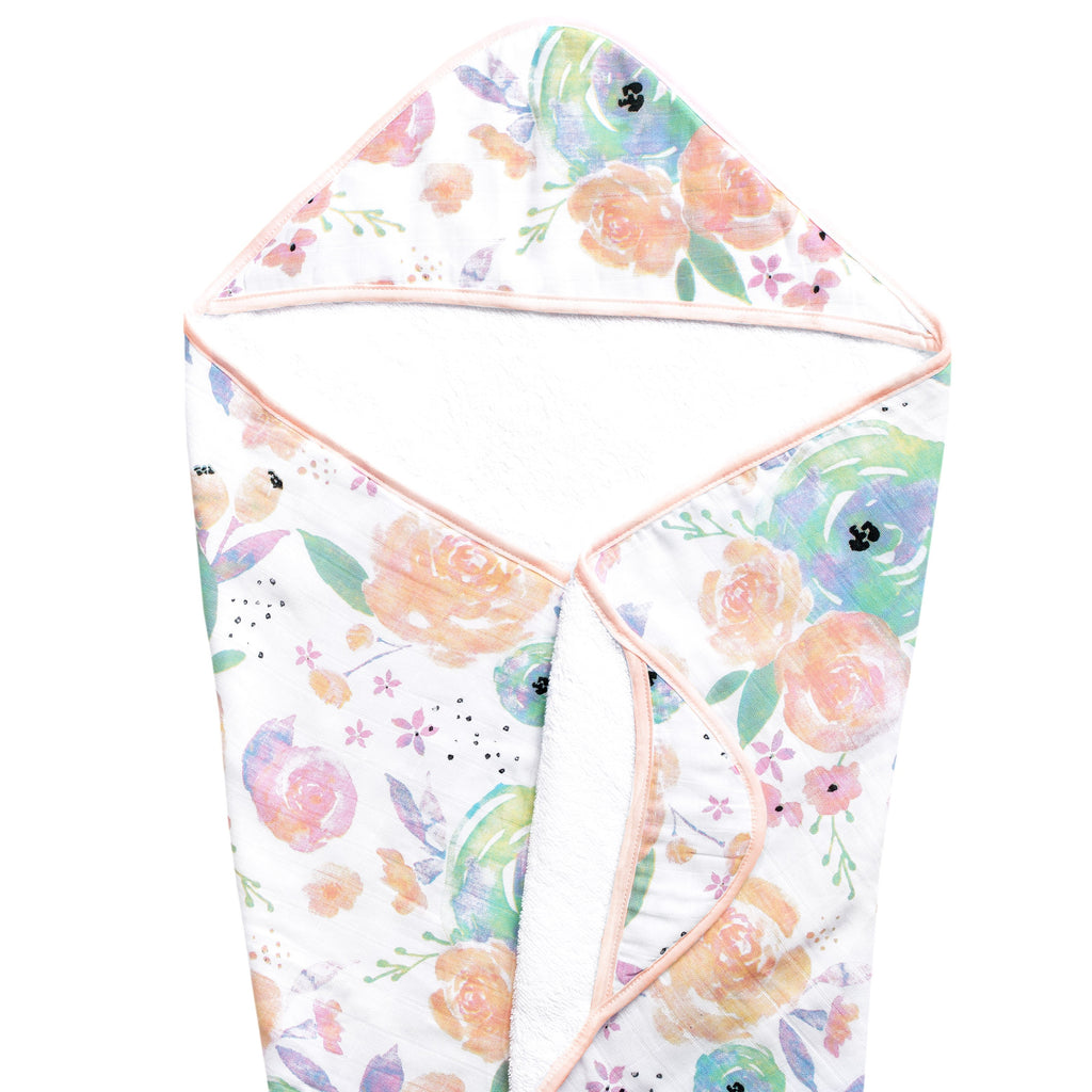 Copper Pearl Muslin Hooded Towel - Bloom