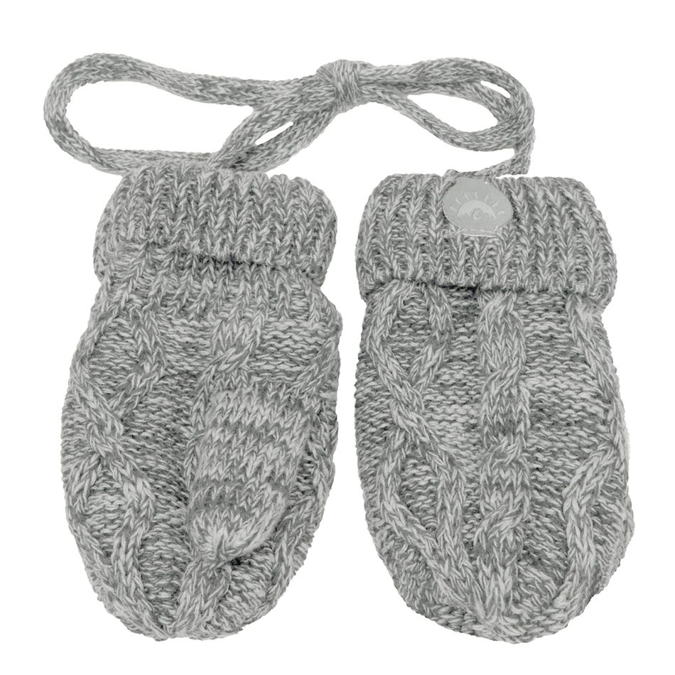 Calikids Cabled Baby Knit Mitts
