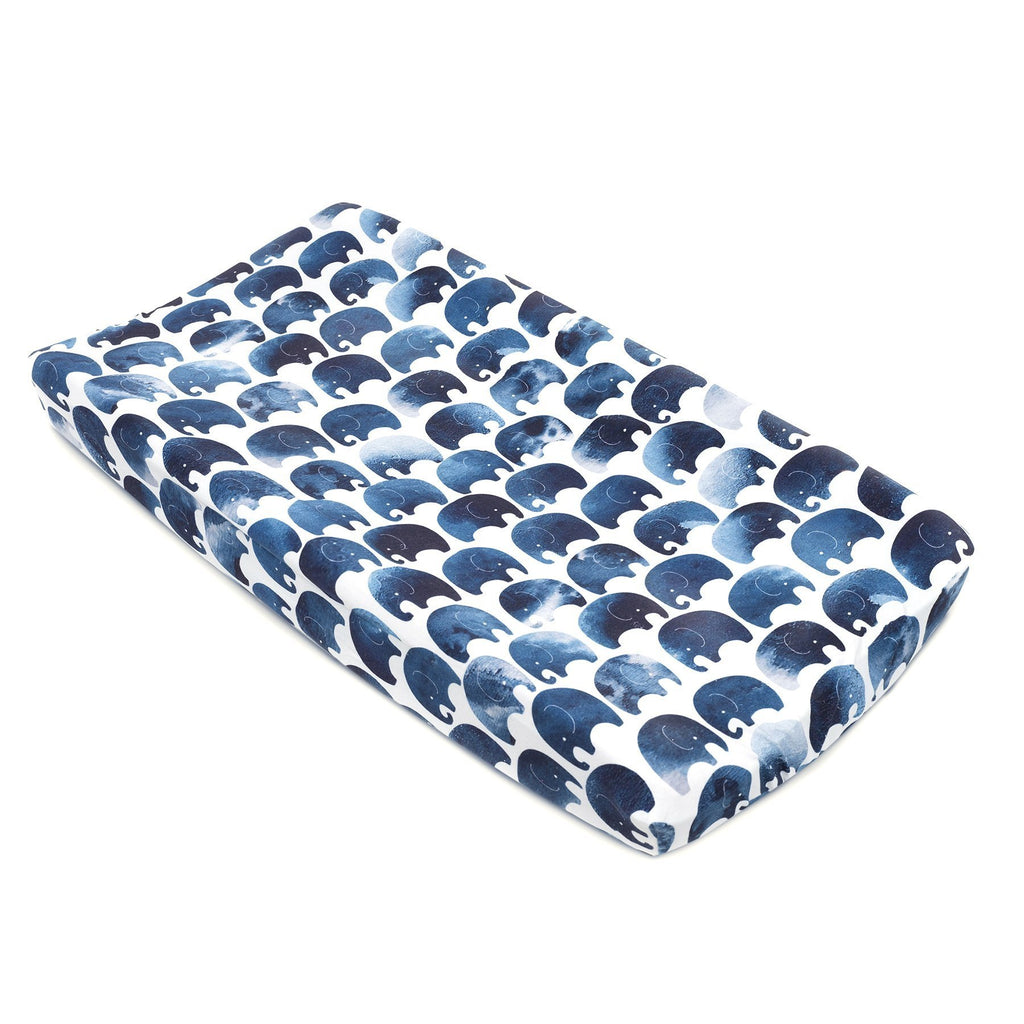 Oilo Jersey Changing Pad Cover - Elephant