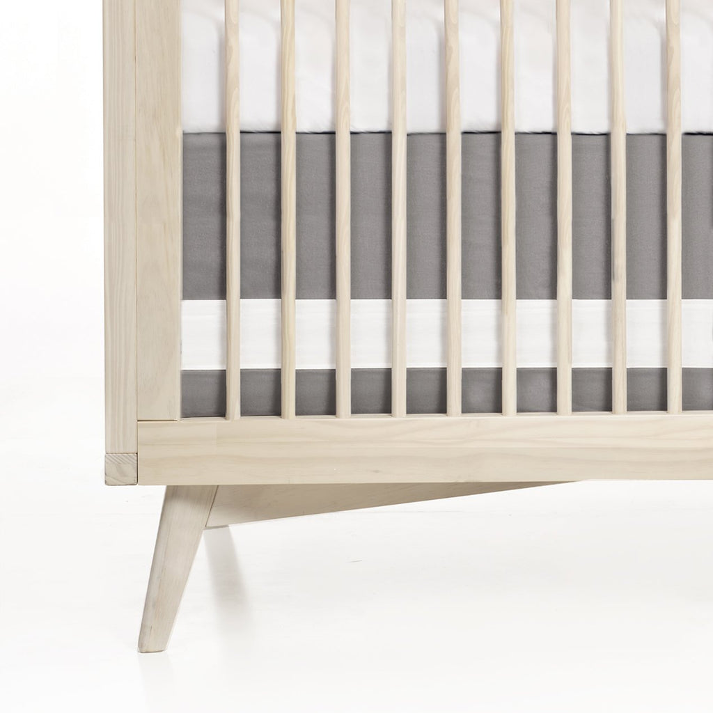 Oilo Solid Crib Skirt - Stone