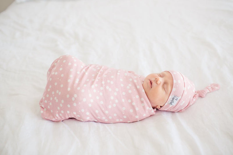 Copper Pearl Newborn Top Knot Hat - Lucy