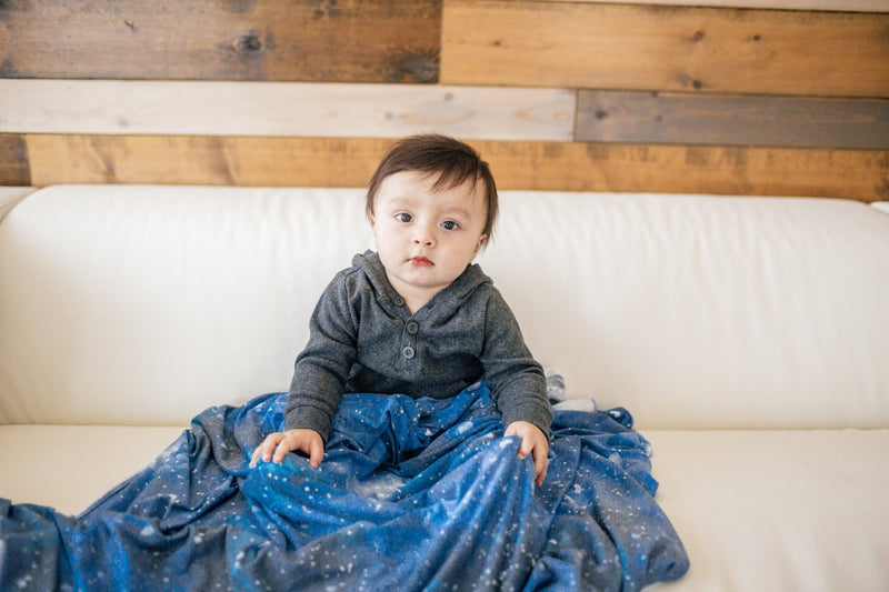 Copper Pearl Knit Swaddle Blanket - Galaxy